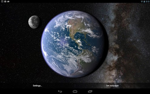 Earth & Moon in HD Gyro 3D - screenshot thumbnail