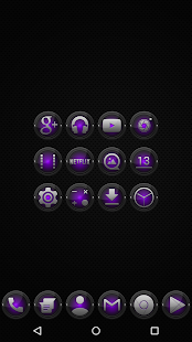 Black and Purple - Icon Pack - screenshot thumbnail