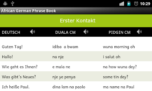 African German Phrase Book- screenshot thumbnail