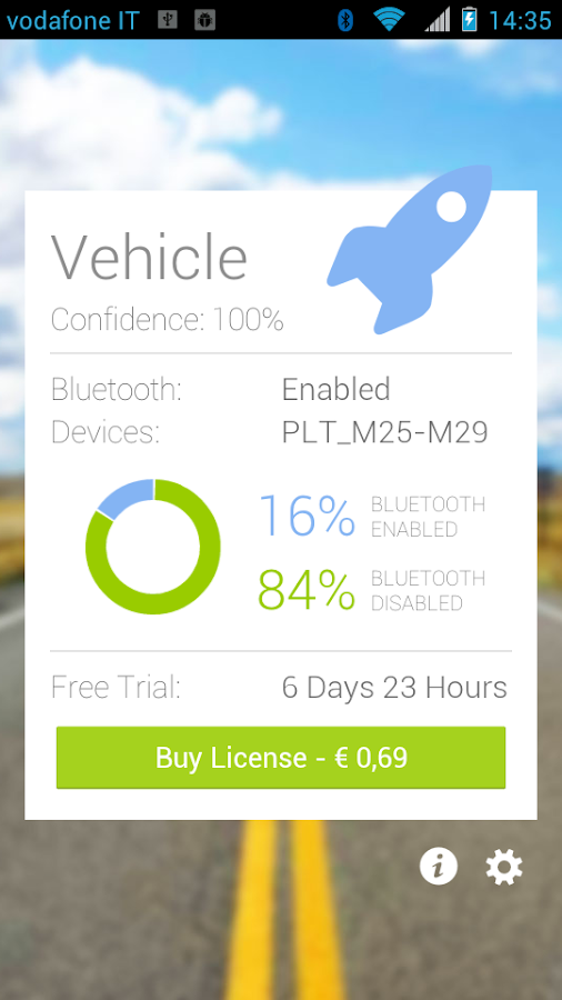 Bluetooth and SMS in Car Trial - screenshot