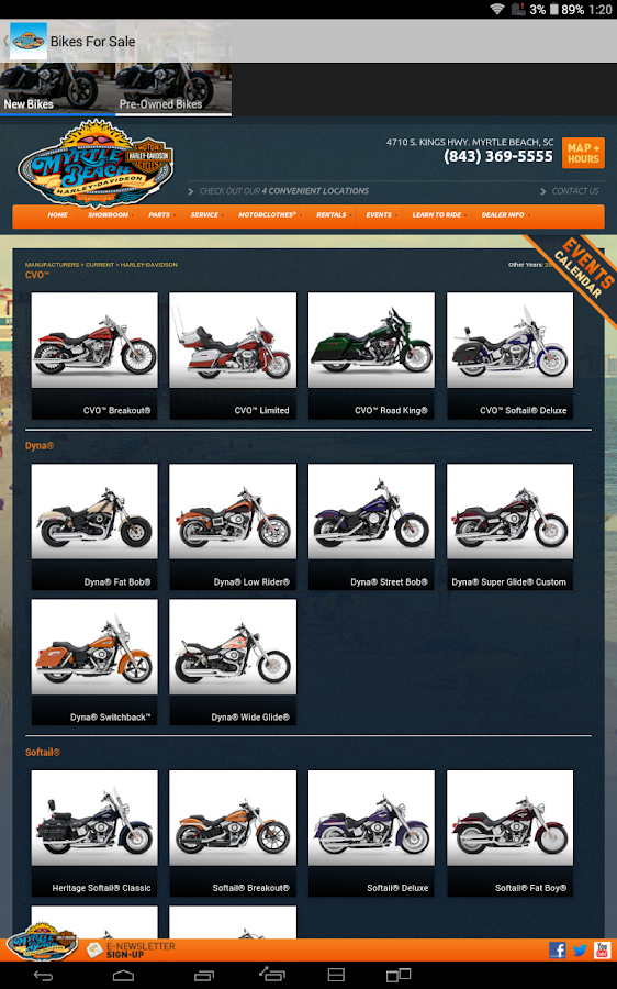 Myrtle Beach Harley Davidson - screenshot