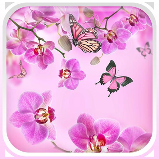 粉紅色 花卉動態壁紙 LOGO-APP點子