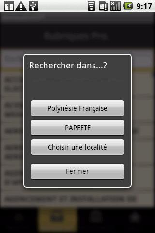 Annuaire OPT- screenshot