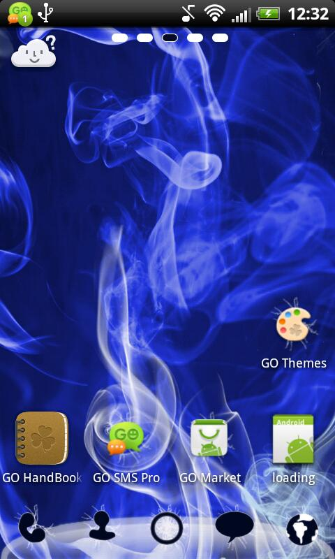 GO Launcher EX Smoke Theme - screenshot