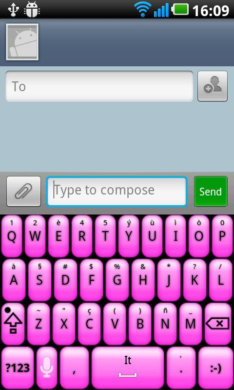 Pink Glow Better Keyboard Skin - screenshot