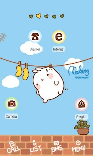 molang on the clothesline