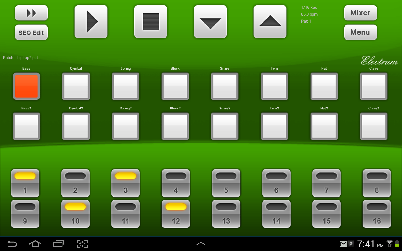 android drum machine midi