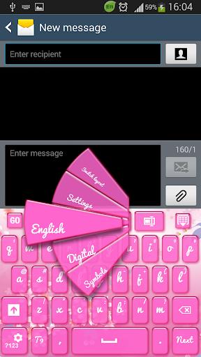 GO键盘粉红色的樱花
