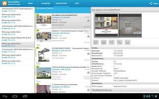 Screenshot of Immobilien: Mieten & Kaufen HD