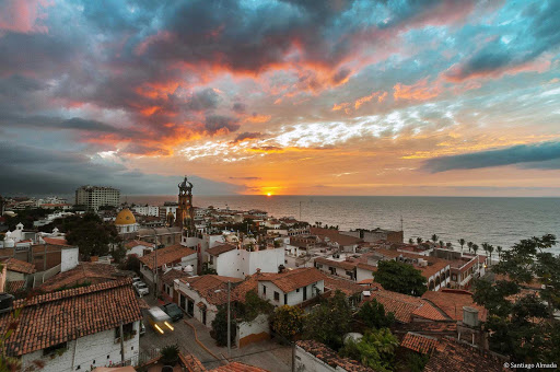 A dramatic sunset in Puerto Vallarta, Mexico.