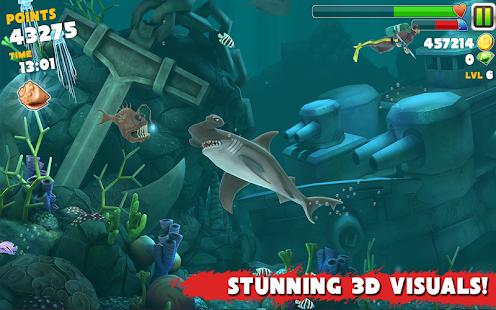 بازی هیجانی کوسه گرسنه Hungry Shark Evolution v2.0.1