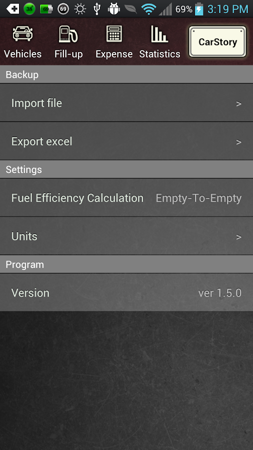 CarStory - Car Management,Fuel - screenshot