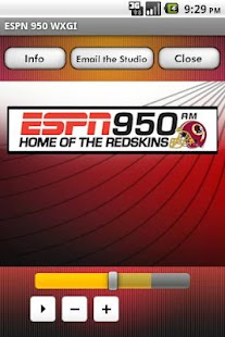 ESPN 950 WXGI - screenshot thumbnail