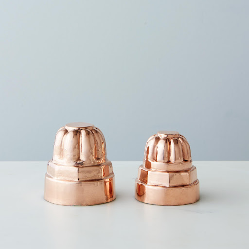 Vintage Copper Bolt Mold, Mid 19th Century (Set of Two)