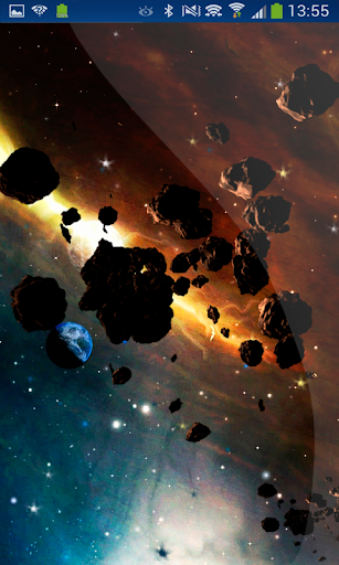 Planet Effect Asteroids Moving