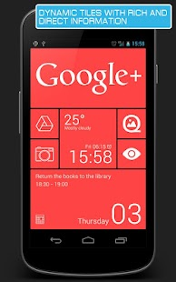 Android Tiles red - UCCW skin - screenshot thumbnail