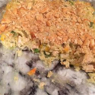 Veggie Chicken Rice Casserole.