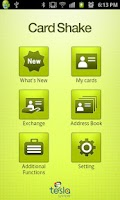 Screenshot of CardShake(business card, NFC)