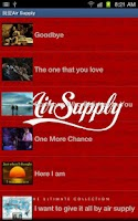 Screenshot of I Love Air Supply