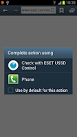 Screenshot of ESET USSD Control