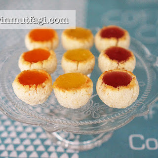 Stained Glass Coconut Cookies