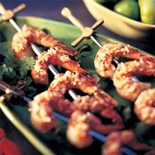 Javanese Sambal with Grilled Shrimp.