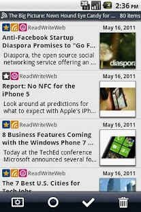 Daily Reader (Google Reader)- screenshot thumbnail