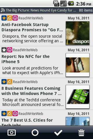 Daily Reader (Google Reader)- screenshot
