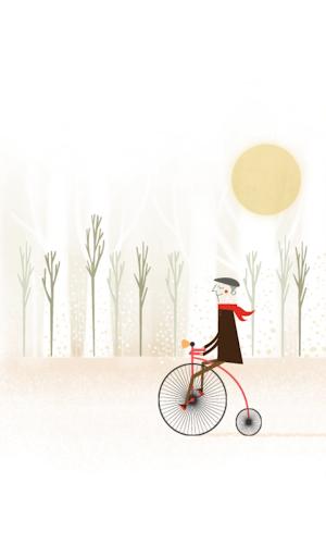 영국신사의 자전거 여행 카카오톡 테마