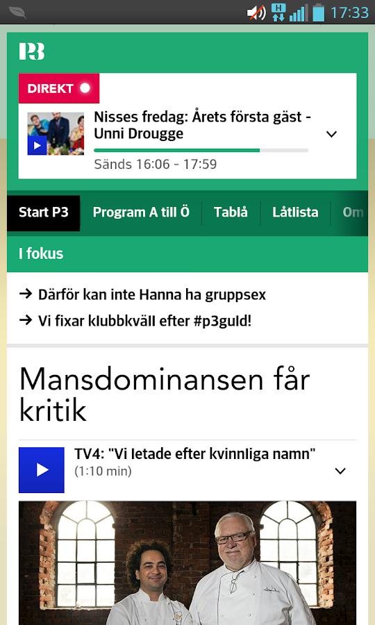 P3 (bokmärkesapp) - screenshot