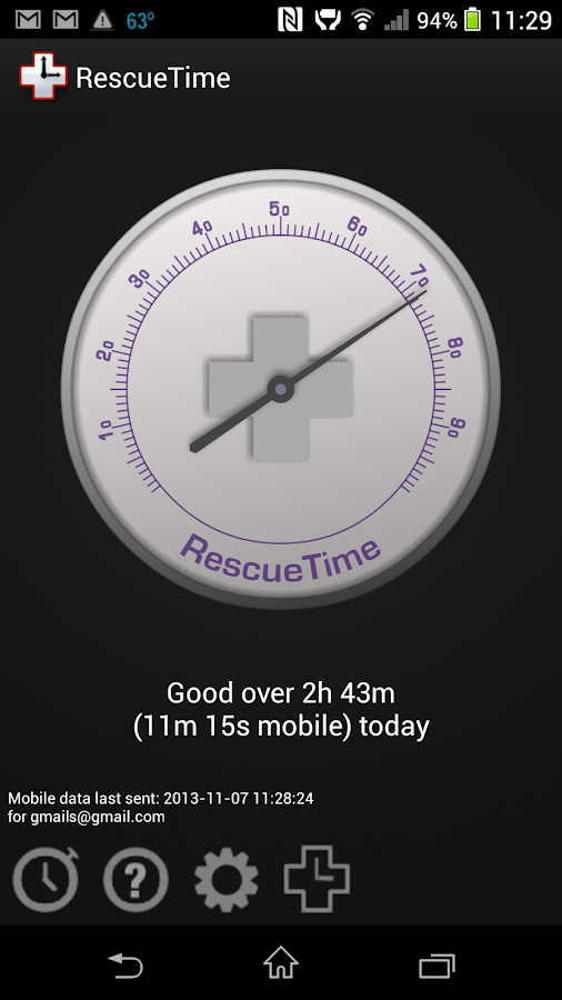 RescueTime - Time Tracking - screenshot