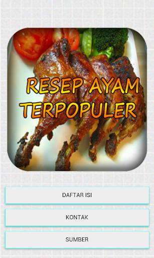 Resep ayam terpopuler