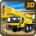 Heavy Construction Crane 3D icon