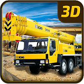Heavy Construction Crane 3D