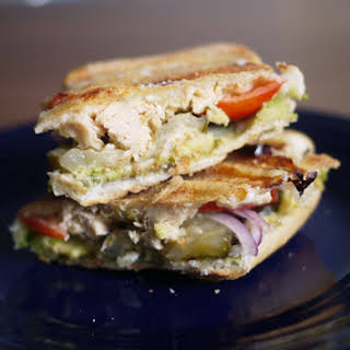 Tuna Avocado Cuban Sandwich.