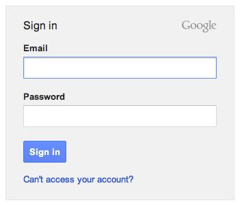 log my in: