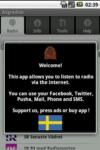 Ångradion gratisapp