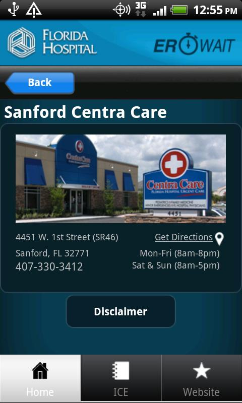 Florida Hospital ER Wait - screenshot