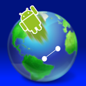 World Map Flying icon