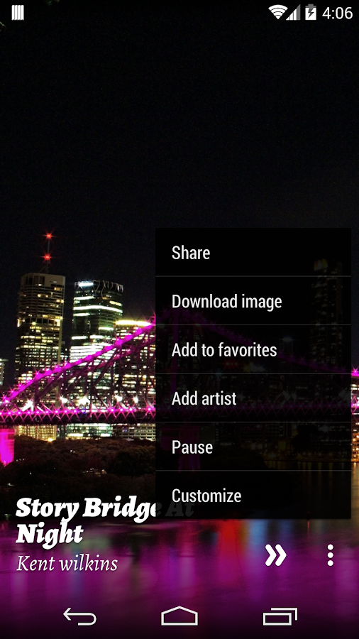 Flickr for muzei - screenshot