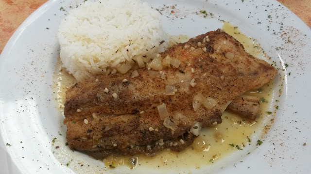 GF red fish with rice