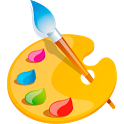 Coloring drawing icon