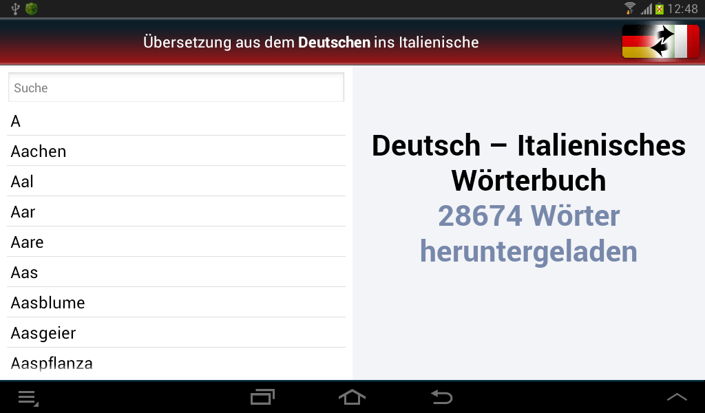 Deutsch-Italienisch? OK!- screenshot