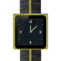 Yellow Nano Wrist Watch Clock