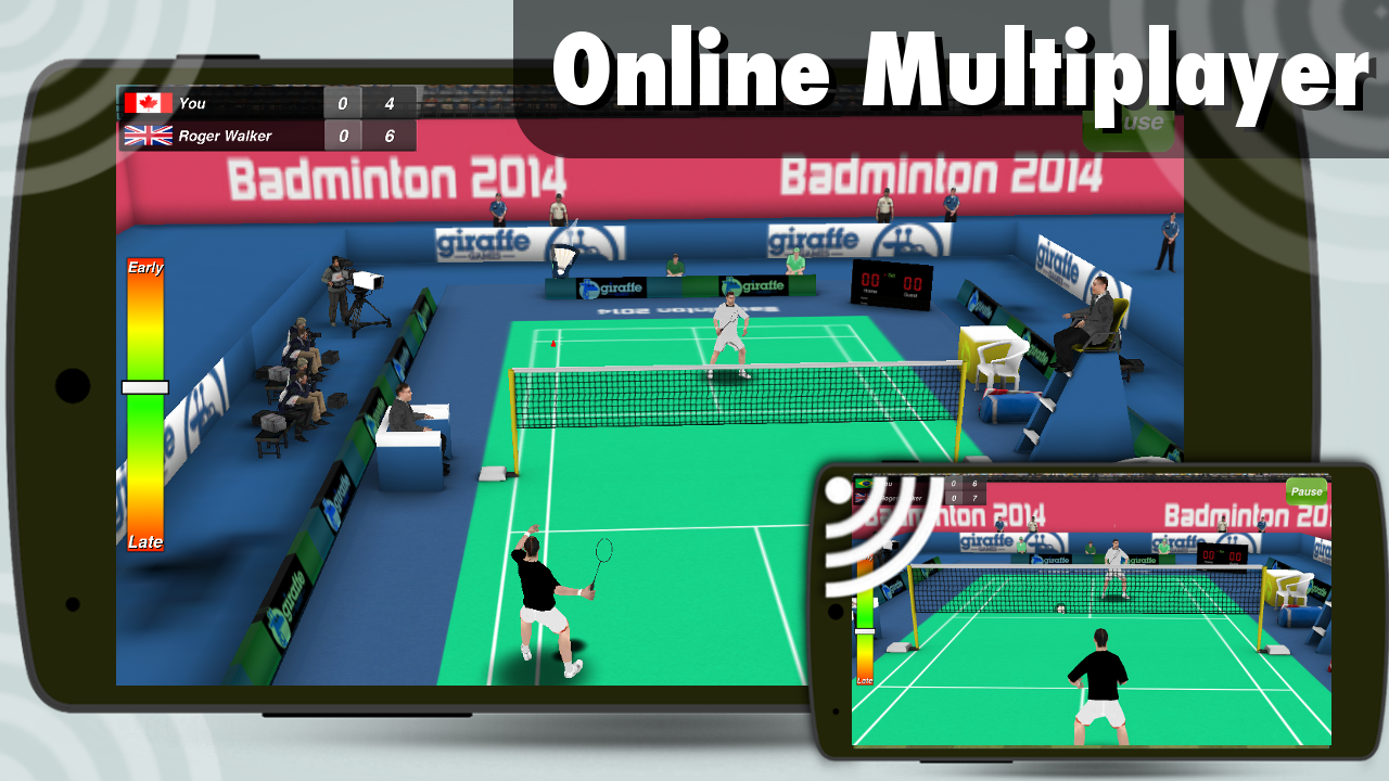 Screenshots of Badminton 3D for iPhone