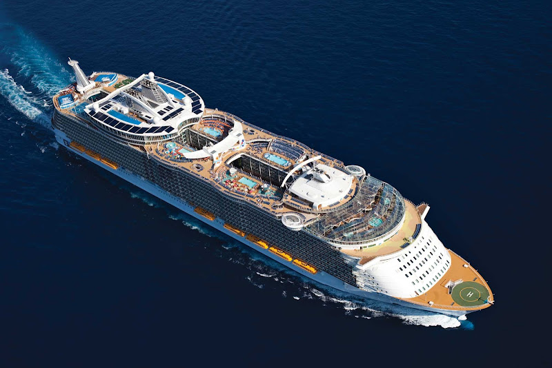 Oasis of the Seas has about 2,400 crew members serving 5,400 passengers.