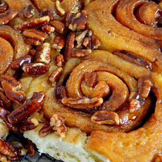 The Best One-Hour Cinnamon Pecan Sticky Buns.