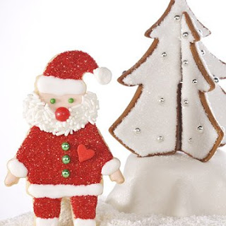 Decorated Santa Cookies