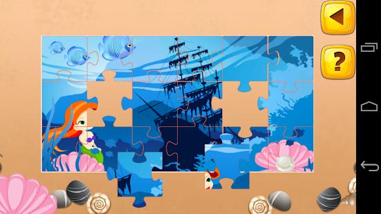 儿童拼图游戏:海洋