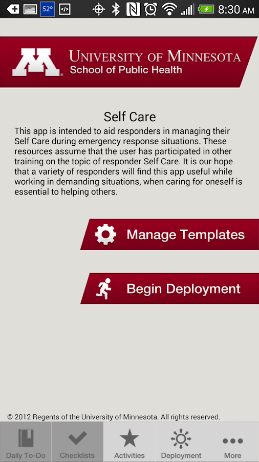 Responder Self Care - screenshot